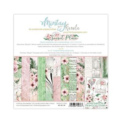 "Mintay - Papier 6"" X 6""  collection «Secret Place» 24 pages recto-verso"