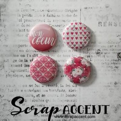 """Scrap Accent - Badges modèle """"Mon coeur """""""