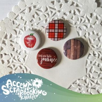 Accent Scrapbooking - Badges modèle «Moodboard septembre»