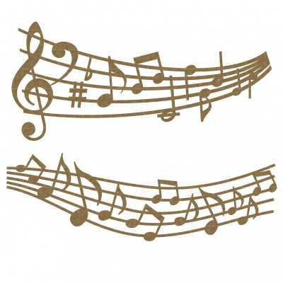 Creative Embellishments - Chipboard  «Music note borders»