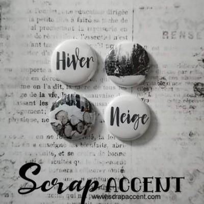 """Scrap Accent - Badges modèle """"Neige """""""