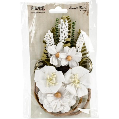 "49 & Market - Seaside Blooms 1.5""-2.25""  «Cotton» 16/Pkg"