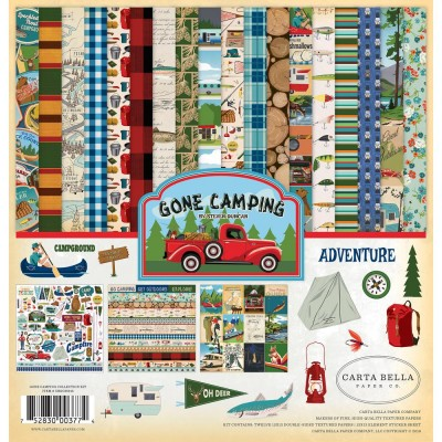 "Carta Bella - ensemble de papier recto-verso  «Gone Camping» 12"" X 12"""