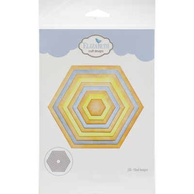 Elizabeth Craft- Dies «Fitted Hexagons» ensemble de 9 pièces