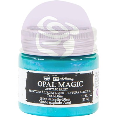 Finnabair Art Alchemy - Peinture acrylique «Opal Magic» couleur «Teal-Blue»  1.7 oz