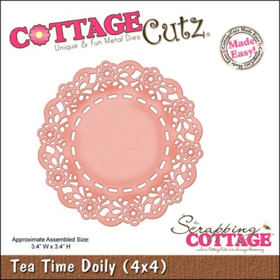 "CottageCutz Die Modèle ""Tea Time Doily 3.4""X3.4"""""