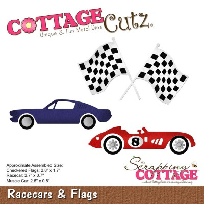 "CottageCutz - Die Modèle ""Racecars & Flags"""