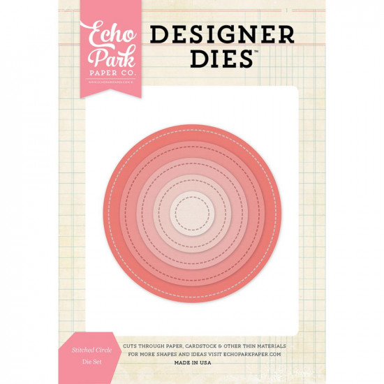 "Echo Park Paper- DIE ""Stitched Circle Nesting"""
