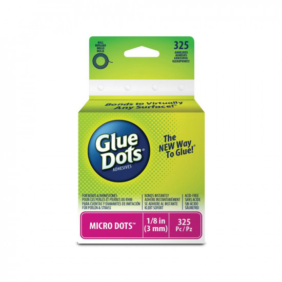"Glue Dots  micro 1/8"" (3mm)   325 pc"