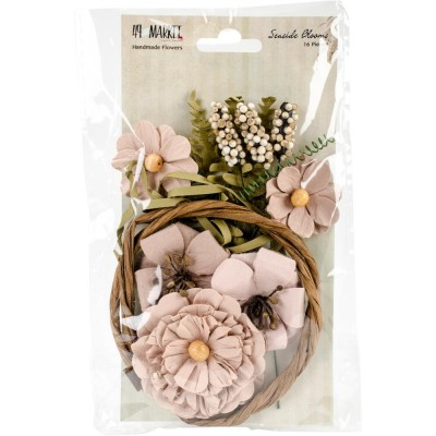 "49 & Market - Seaside Blooms 1.5""-2.25""  «Natural Blush» 16/Pkg"