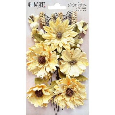 "49 & Market - Blossom Blends 2.5"" 13/Pkg ""Yellow"""