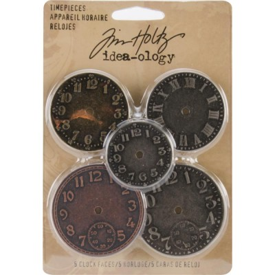 "Tim Holtz: Idea-Ology ""Horloges"" paquet de 5"