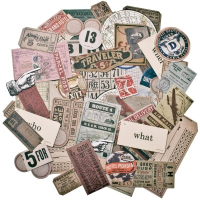 Tim Holtz - «Expedition»  paquet Ephemera 63 pièces