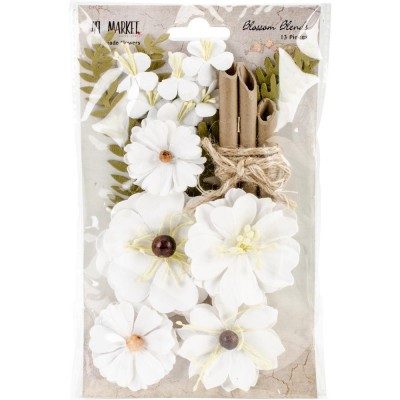 "49 & Market - Blossom Blends «Cotton» 2.5"" 13/Pkg"