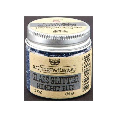 "Finnabair - Art Ingredients Glass Glitter couleur ""Midnight blue"" 2oz"