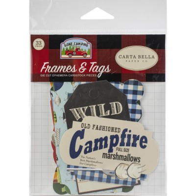 Carta Bella - Éphéméra «Gone Camping» ensemble  33pcs