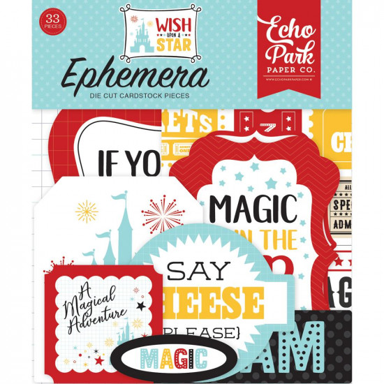 "Echo Park - Éphéméra "" Wish upon a star - Icons""  33pcs"