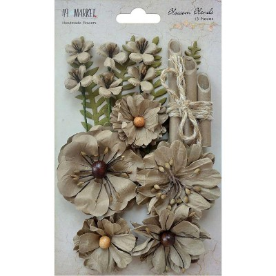 "49 & Market - Blossom Blends 2.5"" 13/Pkg couleur ""Linen"""