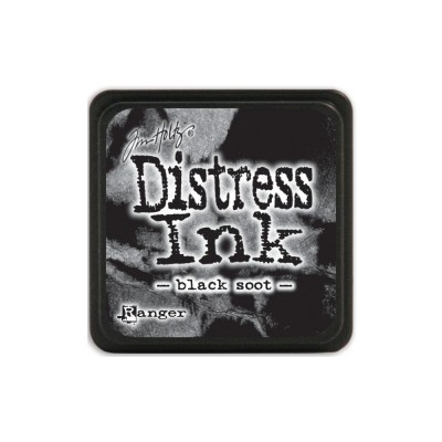 "Distress Mini Ink Pad ""Black Soot"""