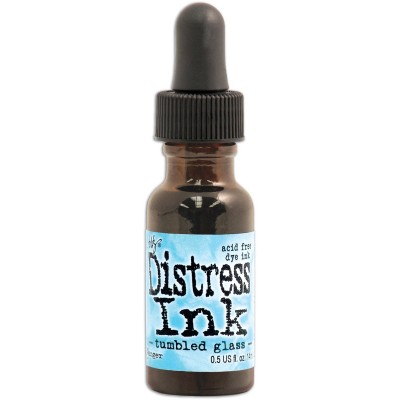 "Distress ink Reinkers - Tim Holtz- couleur ""Tumbled Glass"""