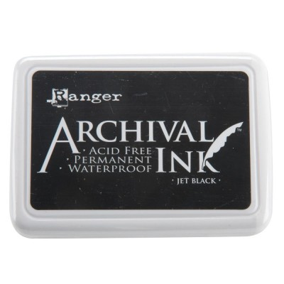 "Ranger- Archival Ink pad couleur ""Jet Black"""