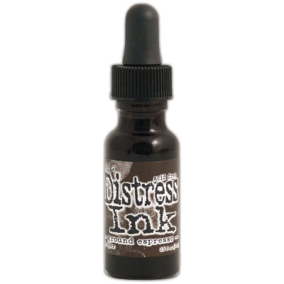 "Distress ink Reinkers - Tim Holtz- couleur ""Ground Espresso"""