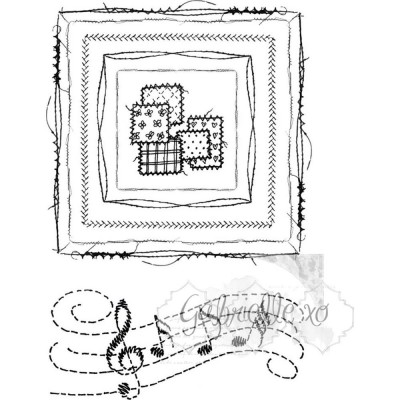 49&Market - Gabi's square stitch stamp set 6 pièces