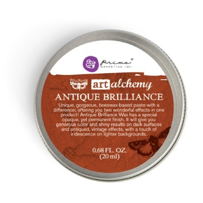 Finnabair - Art Alchemy pâte brillante antique «Red Amber»