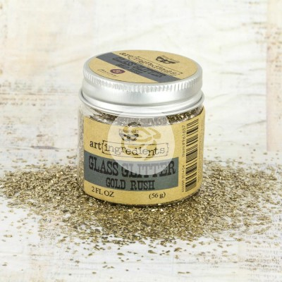 "Finnabair - Art Ingredients Glass Glitter couleur ""Gold Rush"" 2oz"