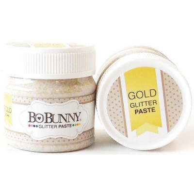 BoBunny - Double Dot Glitter Paste 50ml couleur Gold