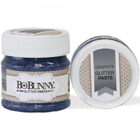 BoBunny - Double Dot Glitter Paste 50ml couleur Graphite