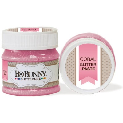 BoBunny - Double Dot Glitter Paste 50ml couleur Coral