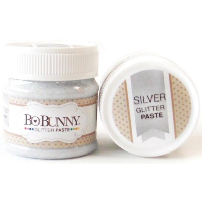 BoBunny - Double Dot Glitter Paste 50ml couleur Silver