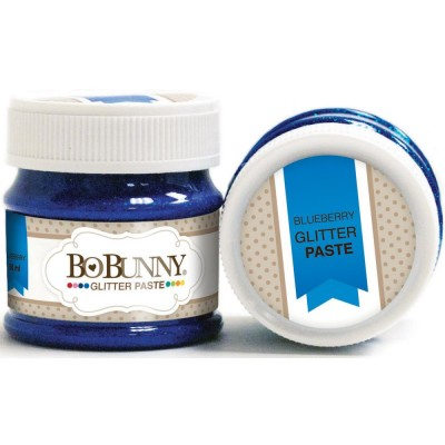 BoBunny - Double Dot Glitter Paste 50ml couleur Blueberry