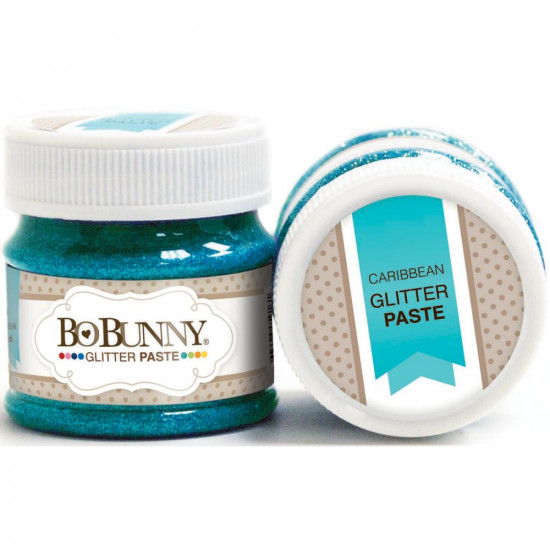 BoBunny - Double Dot Glitter Paste 50ml couleur Caribbean