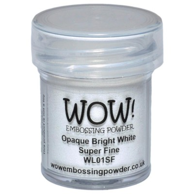 "WOW! Poudre à embosser 15ml ""Opaque Bright White Super Fine"""
