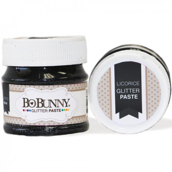 BoBunny - Double Dot Glitter Paste 50ml couleur Licorice