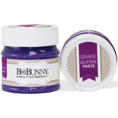 BoBunny - Double Dot Glitter Paste 50ml couleur Grape