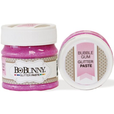 BoBunny - Double Dot Glitter Paste 50ml couleur Bubble Gum