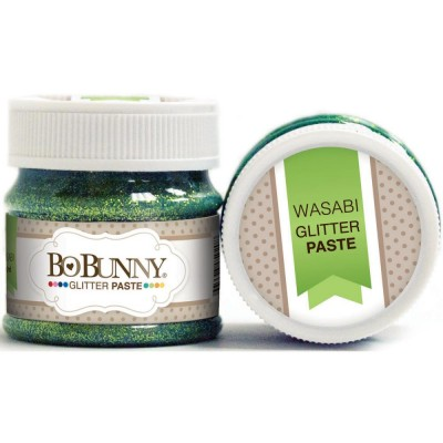 BoBunny - Double Dot Glitter Paste 50ml couleur Wasabi