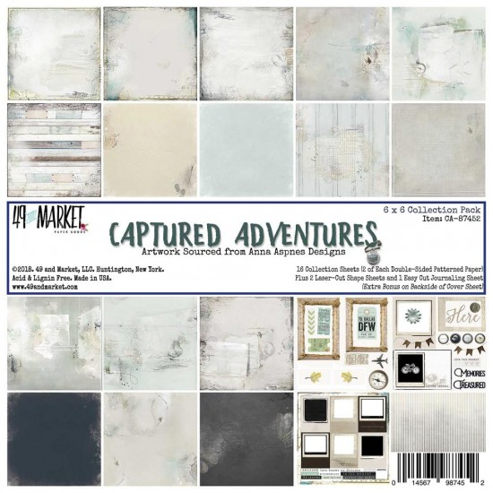 "49& Market bloc de papier collection ""Captured Adventures"" 6 X 6"""