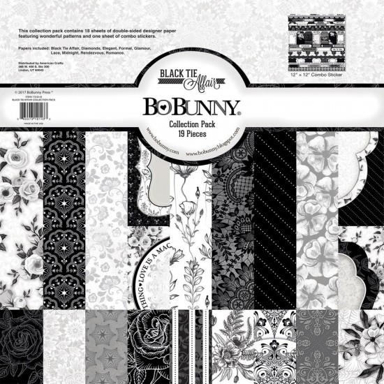 "BoBunny - Papier ""Collection Pack"" 12 X 12 collection ""Black and Tie affair"