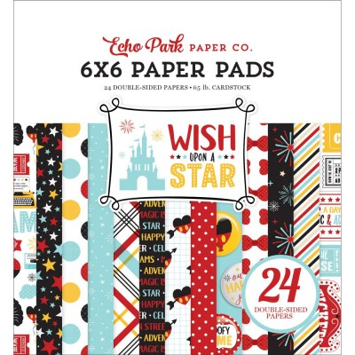 "Echo Park - Bloc de  papier double face ""Wish Upon A Star""  6""X 6""   24 feuilles"