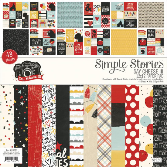 "Simple Stories - Ensemble de papier ""Say Cheese III""   12"" X 12""  48/Pkg"