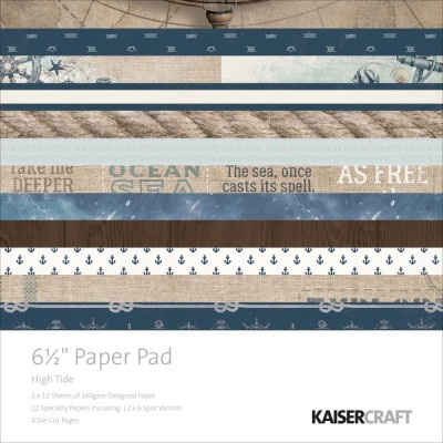 "Kaisercraft Paper Pad  ""High Tide""  6.5""X6.5"" 40pages"