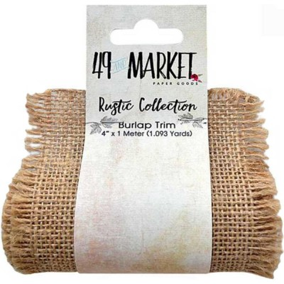 "Burlap Ribbon Roll 4""X1m jute couleur naturelle"