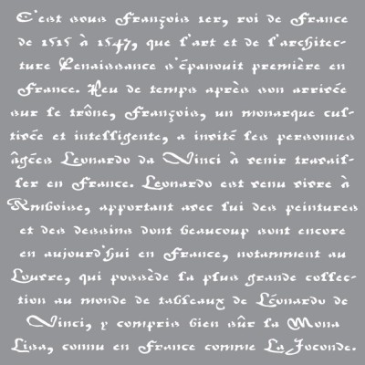 "Americana Decor - Stencil 12"" X 12"" «Old French Script»"