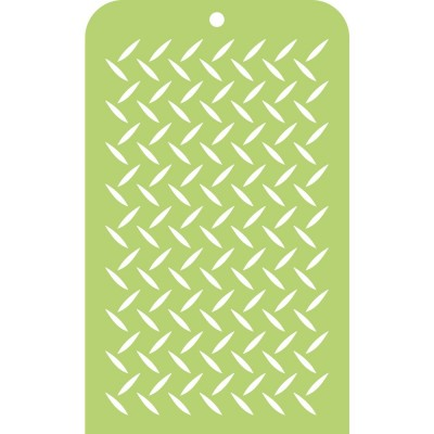 "Kaisercraft- Stencil «Checker Plate» 3.5""X5.75"""