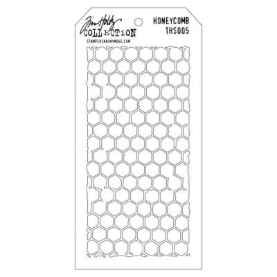 "Tim Holtz Layered Stencil ""Honeycomb"" 4.125"" X 8.5"""
