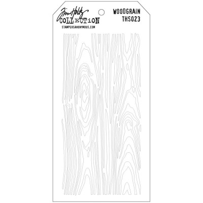 "Tim Holtz Layered Stencil ""Woodgrain"" 4.125"" X 8.5"""